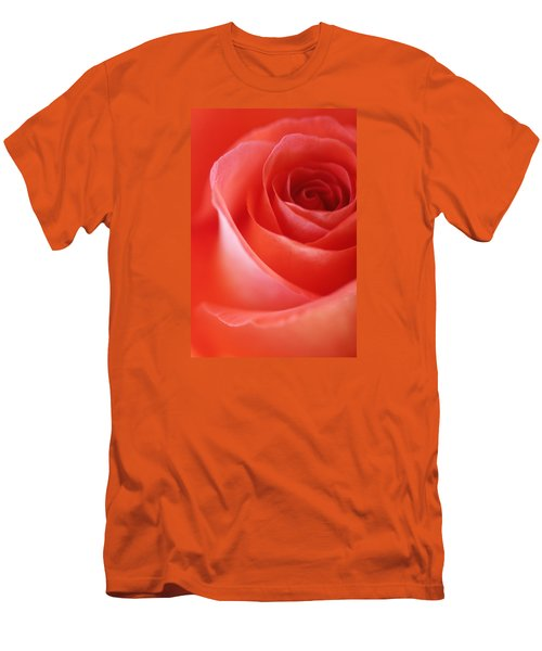 Une Rose Si Belle Men's T-Shirt (Slim Fit) by The Art Of Marilyn Ridoutt-Greene