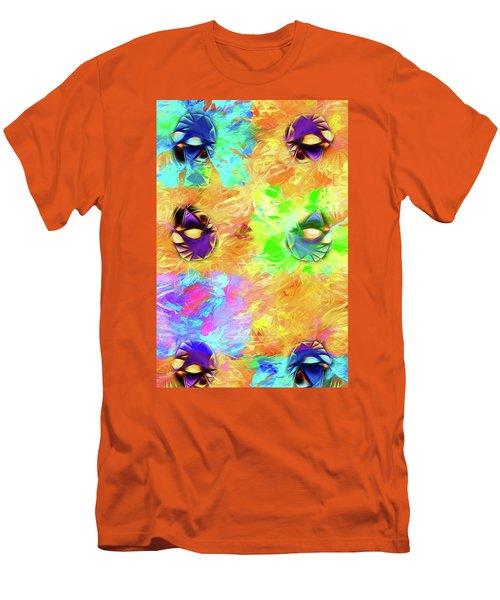 Men's T-Shirt (Athletic Fit) featuring the digital art Unmasked by John Haldane