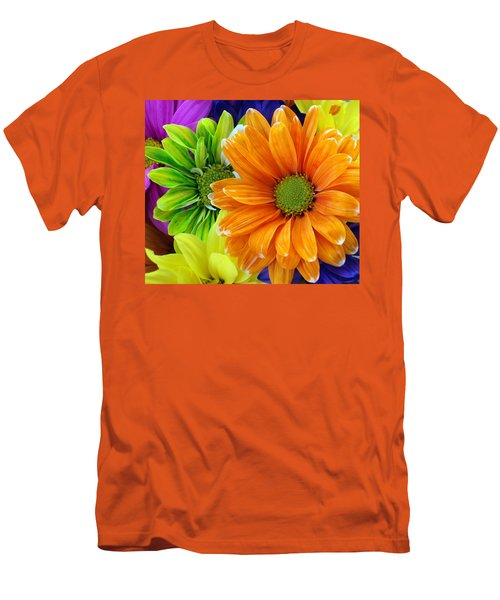 Upstaged By Orange Men's T-Shirt (Slim Fit) by Angelina Vick