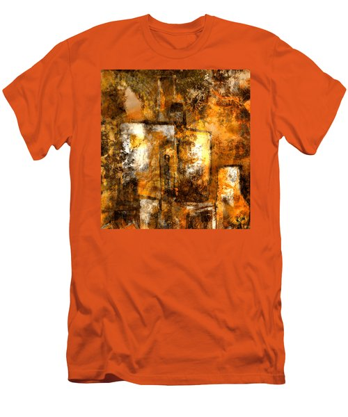 Men's T-Shirt (Slim Fit) featuring the mixed media Urban #3 by Kim Gauge