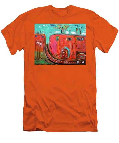 Usa Steel Still Fascinates Men's T-Shirt (Slim Fit) by Mary Carol Williams