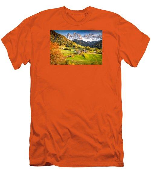 Val Di Funes, Italy Men's T-Shirt (Athletic Fit)