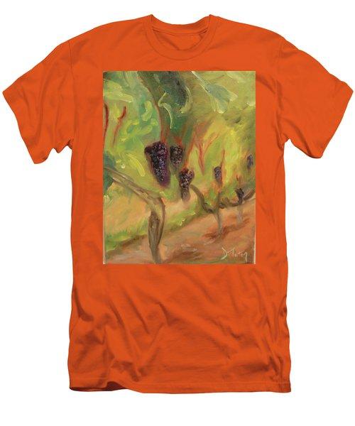 Men's T-Shirt (Slim Fit) featuring the painting Valhalla Vineyard by Donna Tuten