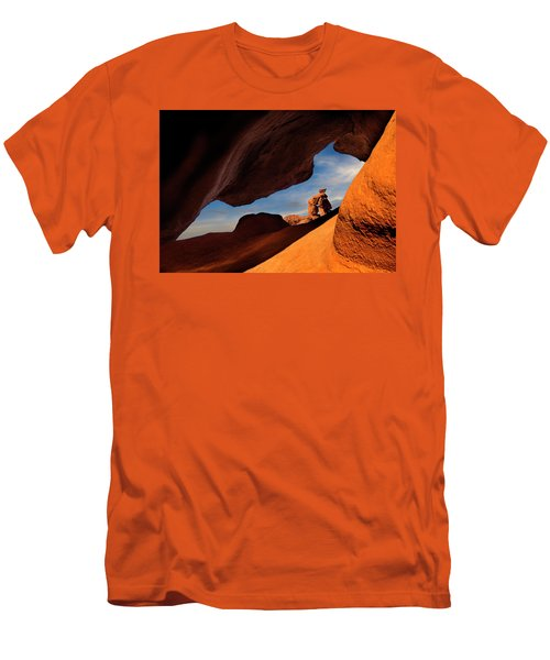 Valley Of Fire Look Through Men's T-Shirt (Slim Fit) by Gary Warnimont