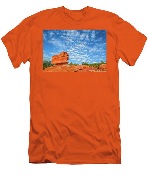 Vermillion Is The Color Of The Rock.  Men's T-Shirt (Slim Fit) by Bijan Pirnia