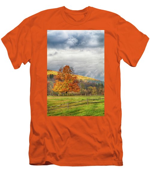 Men's T-Shirt (Athletic Fit) featuring the photograph Vermont Fall Colors After The Rain by Jeff Folger