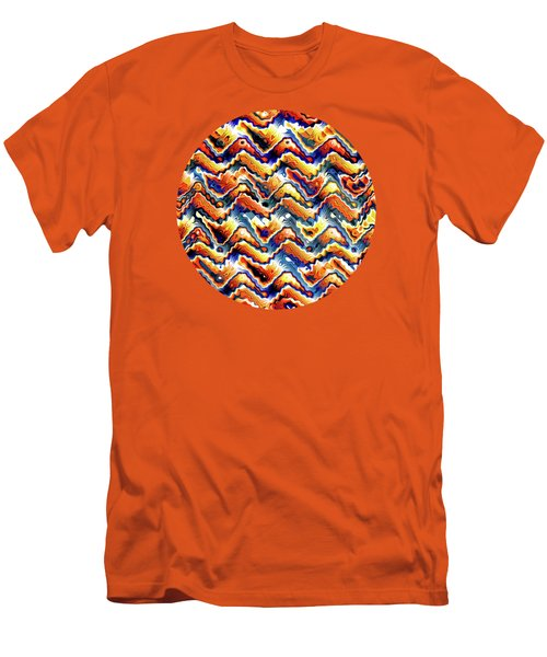 Vibrant Geometric Motif Men's T-Shirt (Slim Fit) by Phil Perkins