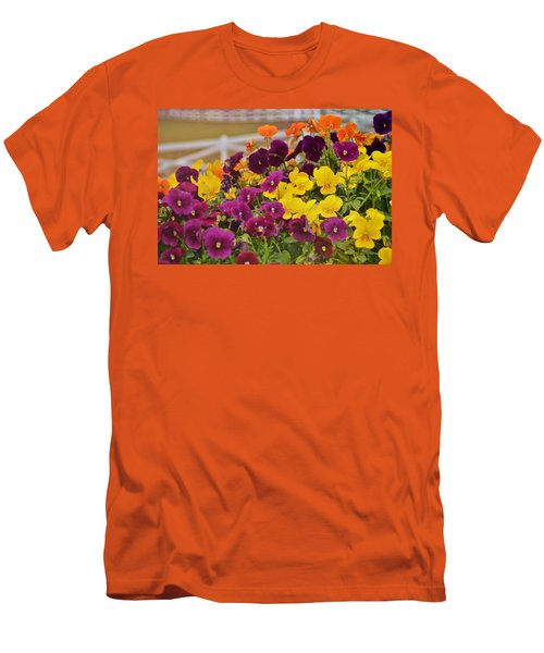 Vibrant Violas Men's T-Shirt (Athletic Fit)