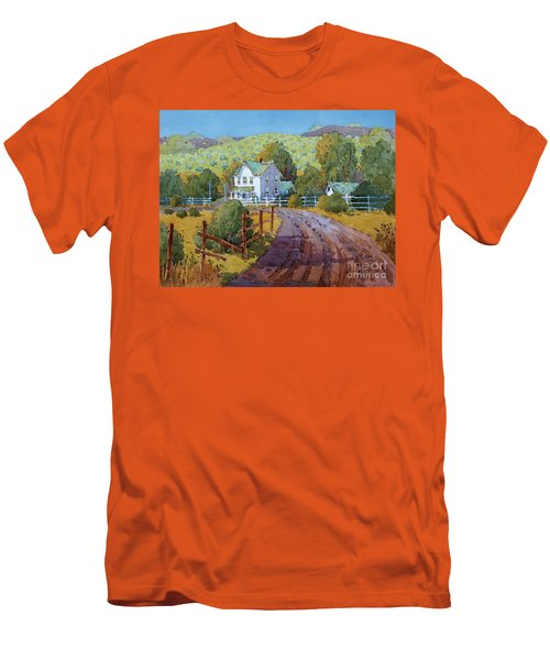 Vineyard Farm In Cambria Men's T-Shirt (Athletic Fit)