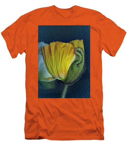 Men's T-Shirt (Slim Fit) featuring the photograph Vintage Poppy 2017 No. 1 by Richard Cummings