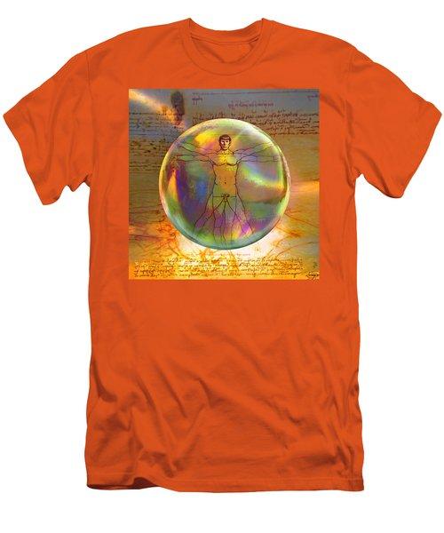Vitruvian Vulcan Men's T-Shirt (Slim Fit) by Robin Moline