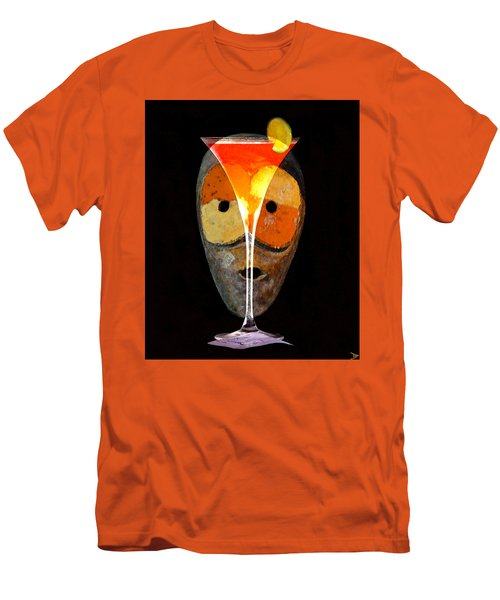 Men's T-Shirt (Slim Fit) featuring the painting Voodoo Martini by David Lee Thompson