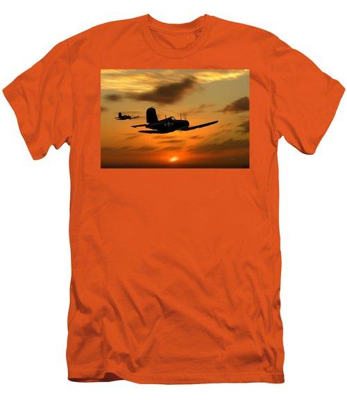 Vought Corsairs At Sunset Men's T-Shirt (Athletic Fit)