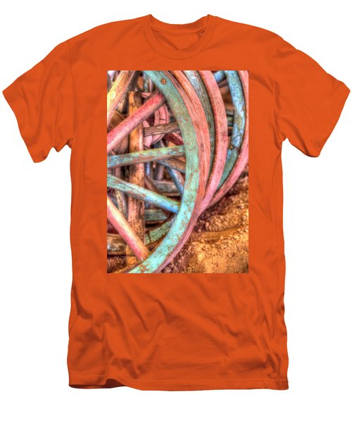 Wagon Wheels Men's T-Shirt (Athletic Fit)
