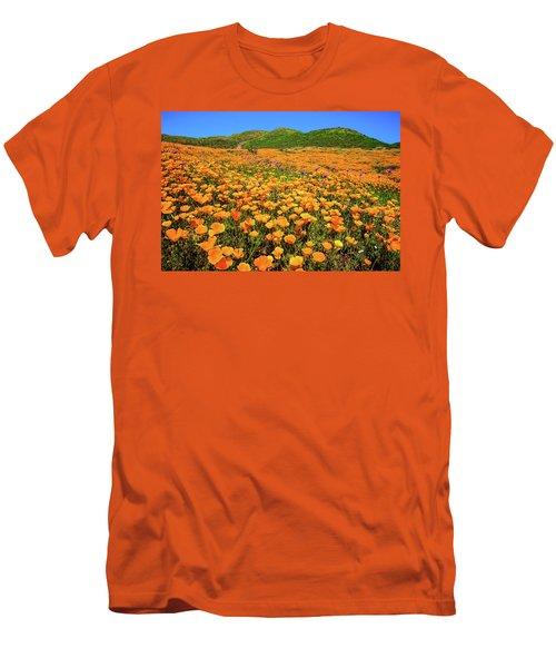 Walker Canyon Wildflowers Men's T-Shirt (Slim Fit) by Lynn Bauer