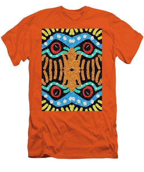 War Eagle Totem Mosaic Men's T-Shirt (Athletic Fit)