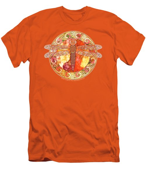 Warm Celtic Dragonfly Men's T-Shirt (Athletic Fit)