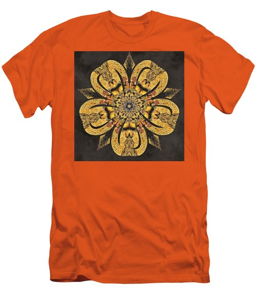 Men's T-Shirt (Athletic Fit) featuring the mixed media Water Glimmer 2 by Derek Gedney