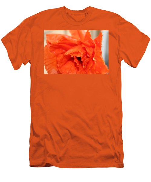 Men's T-Shirt (Slim Fit) featuring the photograph Water On Orange by Christin Brodie