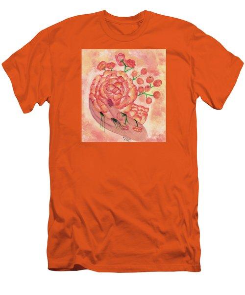 watercolor painting, FRAGILE by Saribelle Men's T-Shirt (Slim Fit) by Saribelle Rodriguez