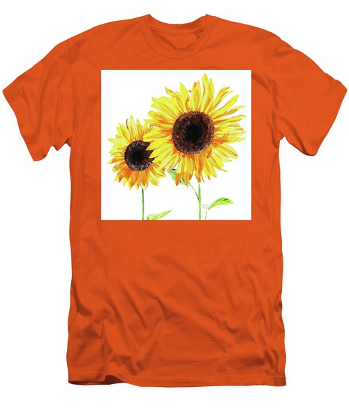 Men's T-Shirt (Athletic Fit) featuring the painting Watercolor Sunflowers by Irina Sztukowski