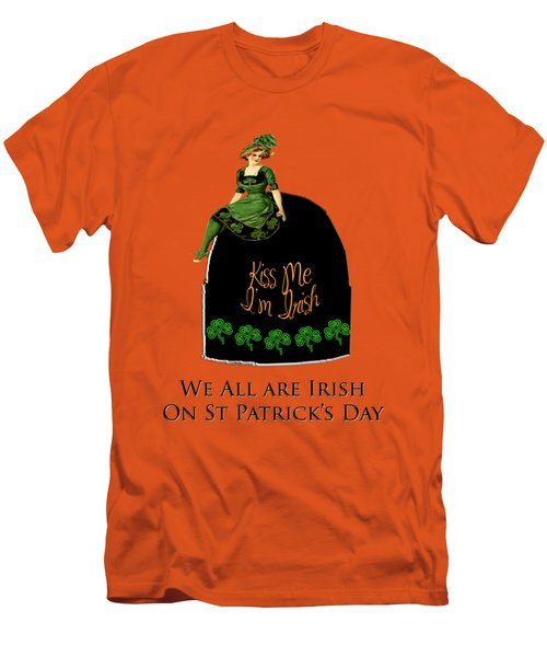 Men's T-Shirt (Slim Fit) featuring the digital art We All Irish This Beautiful Day by Asok Mukhopadhyay