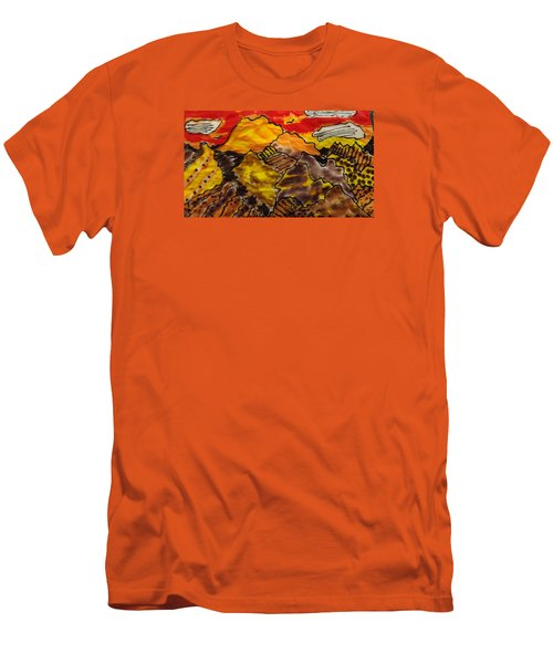Men's T-Shirt (Slim Fit) featuring the painting Western Hills 4 by Don Koester