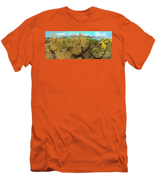 Wheat Field Day Dreaming Men's T-Shirt (Athletic Fit)