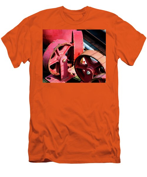 Men's T-Shirt (Slim Fit) featuring the photograph Wheels by Cathy Harper