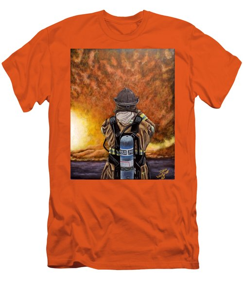 When Hell Comes To Visit Men's T-Shirt (Slim Fit) by Dan Wagner