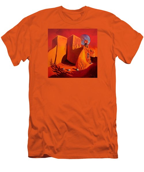 Men's T-Shirt (Slim Fit) featuring the painting When Jupiter Aligns With Mars by Art West