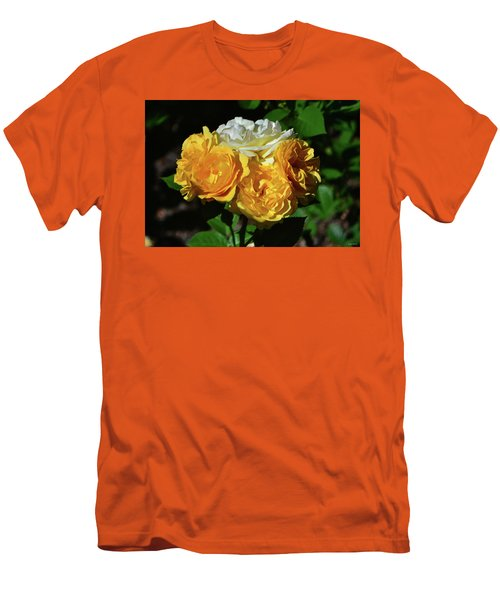 White And Yellow Rose Bouquet 001 Men's T-Shirt (Athletic Fit)