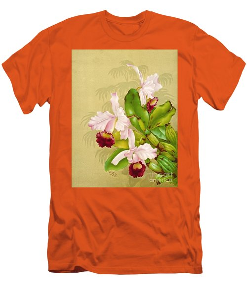 White House Orchid 1892 Men's T-Shirt (Slim Fit) by Padre Art