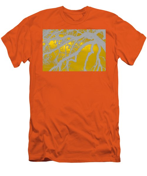 White Oak -yellow Orange Men's T-Shirt (Athletic Fit)