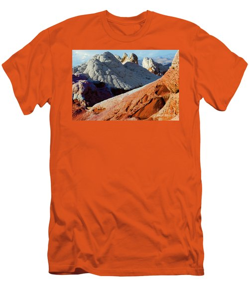 Men's T-Shirt (Slim Fit) featuring the photograph White Pocket 34 by Bob Christopher