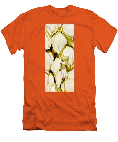 white Yucca flowers Men's T-Shirt (Slim Fit) by Werner Lehmann