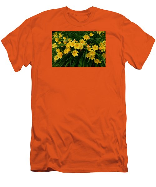 Wildflower Bouquet Men's T-Shirt (Slim Fit) by Linda Edgecomb