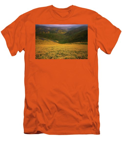 Wildflower Field Up In The Temblor Range At Carrizo Plain National Monument Men's T-Shirt (Athletic Fit)