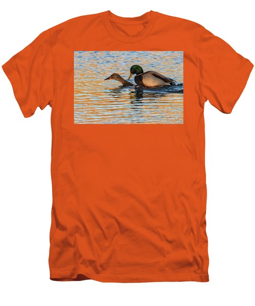 Wildlife Love Ducks  Men's T-Shirt (Athletic Fit)