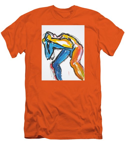 Men's T-Shirt (Slim Fit) featuring the painting William Flynn Block by Shungaboy X