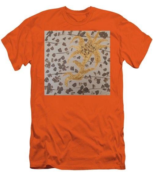 Windswept Golden Plantae #4 Men's T-Shirt (Slim Fit) by Rachel Hannah