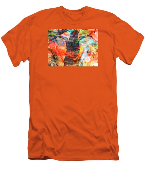 Men's T-Shirt (Slim Fit) featuring the painting Windy Moments by Fania Simon
