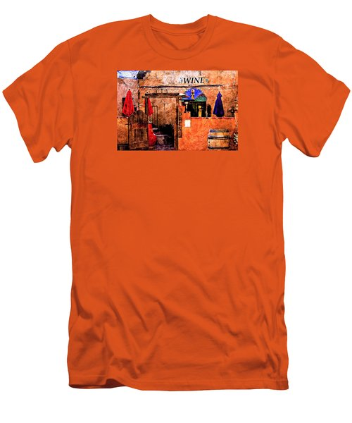 Men's T-Shirt (Slim Fit) featuring the photograph Wine Bar Of The Southwest by Barbara Chichester