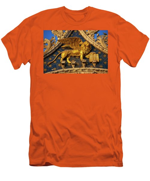 Men's T-Shirt (Slim Fit) featuring the photograph Winged Lion by Harry Spitz