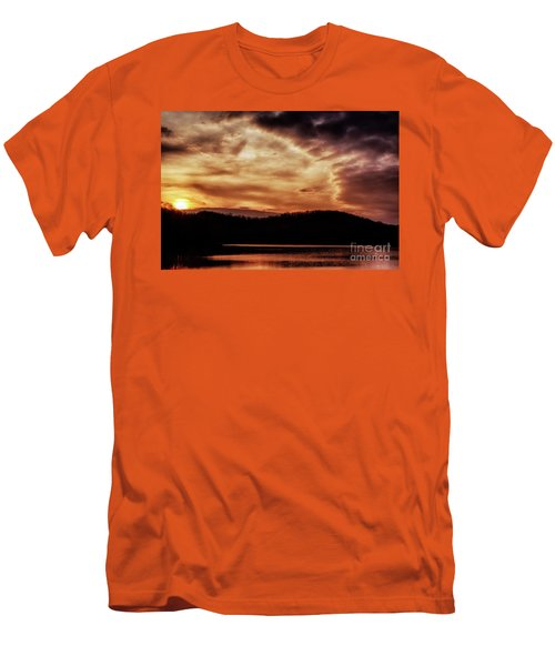 Men's T-Shirt (Slim Fit) featuring the photograph Winter Sunset by Thomas R Fletcher