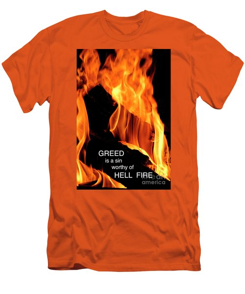 Men's T-Shirt (Slim Fit) featuring the photograph worthy of HELL fire by Paul W Faust - Impressions of Light