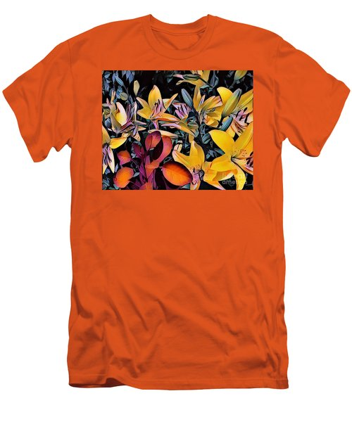 Yellow Daylilies Men's T-Shirt (Slim Fit) by Kathie Chicoine