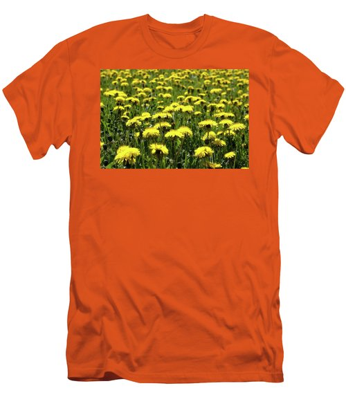 Yellow Field Two  Men's T-Shirt (Slim Fit) by Lyle Crump