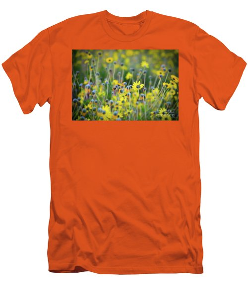 Yellow Flowers Men's T-Shirt (Slim Fit) by Kelly Wade