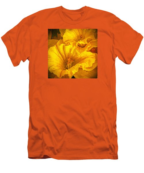 Yellow Flowers Men's T-Shirt (Slim Fit) by Lewis Mann